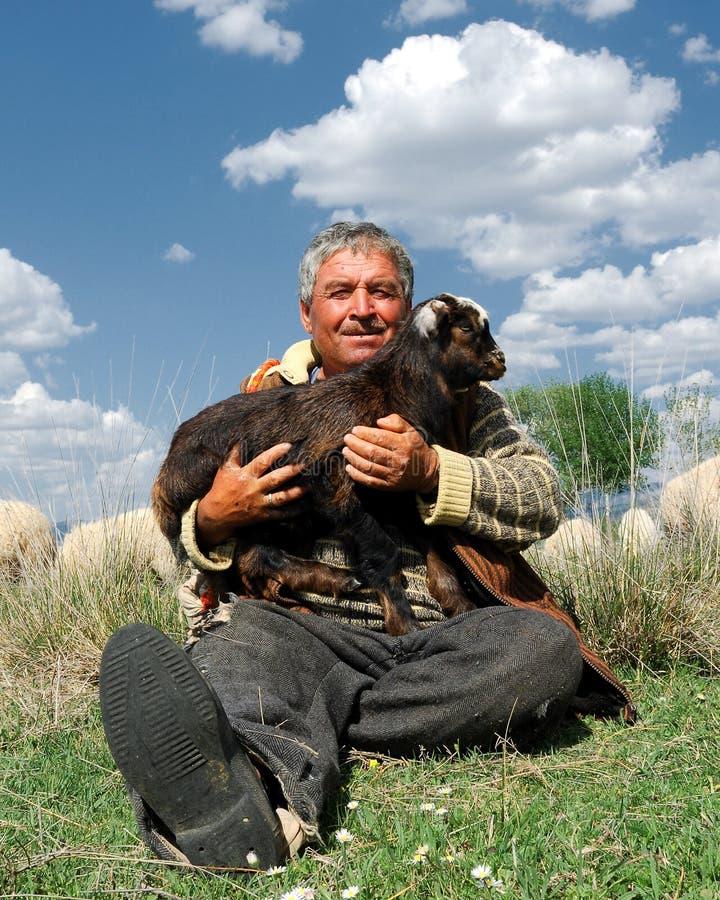 Free Sheepman And Kid Goat Royalty Free Stock Photos - 17843038