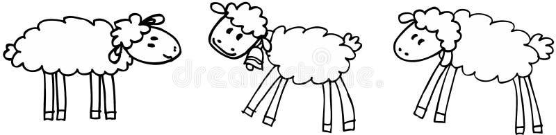 sheeps三 库存例证