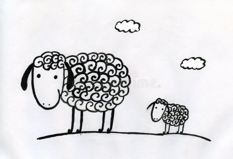 Sheeps ilustración del vector