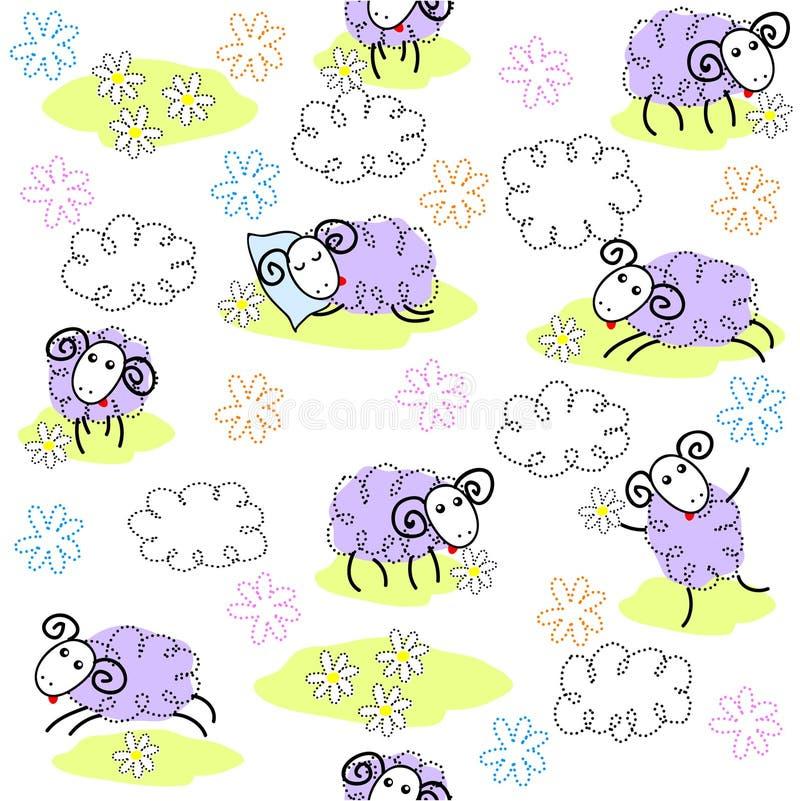 Sheeps lindos stock de ilustración