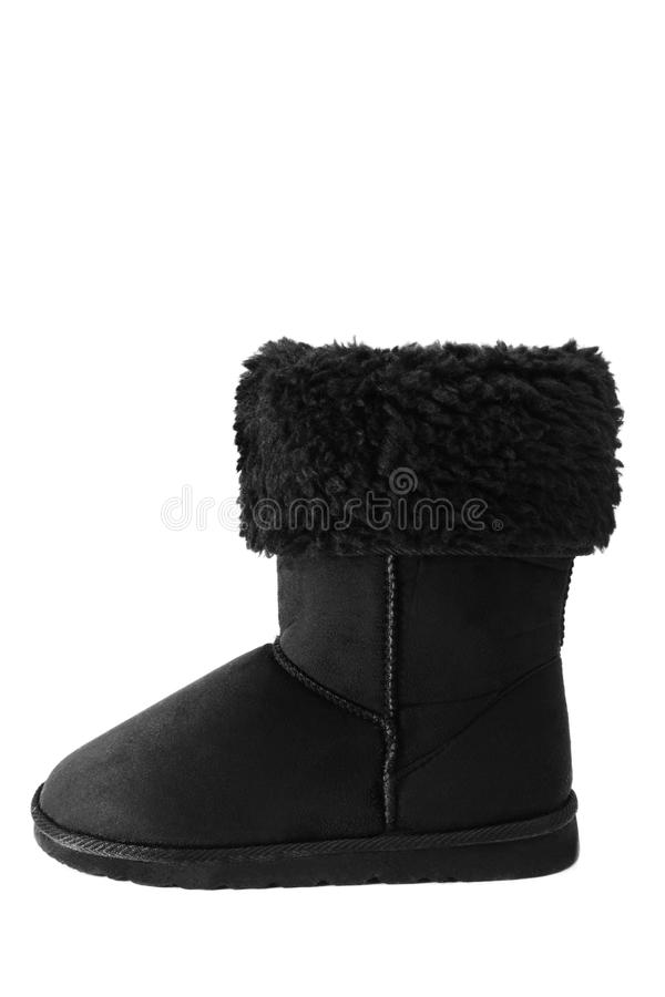 Sheepskin boot royalty free stock image