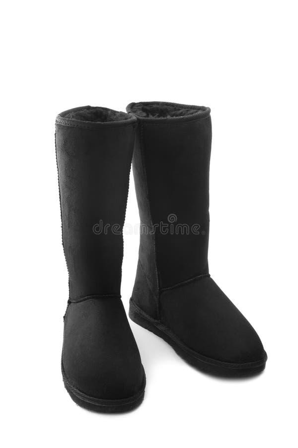 Sheepskin boots royalty free stock image