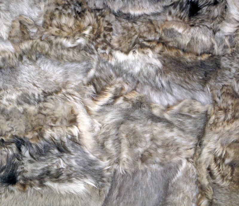 Sheepskin Patchwork. Patches of decorative sheepskin sewn together royalty free stock photo