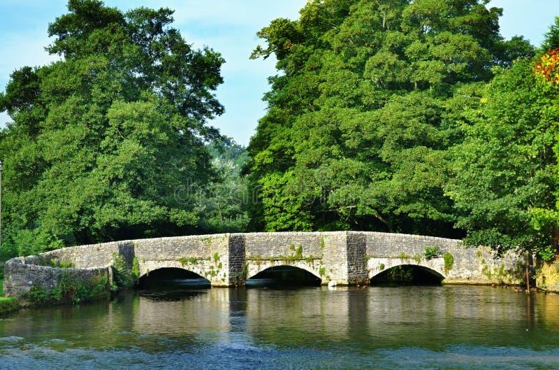 Sheepwashbrug, ashford-in-de-Water stock afbeeldingen