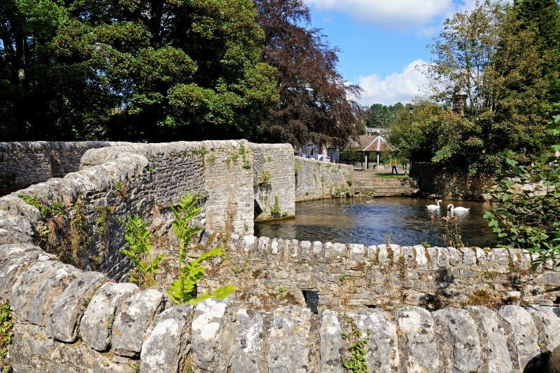 Sheepwashbrug, ashford-in-de-Water stock afbeelding