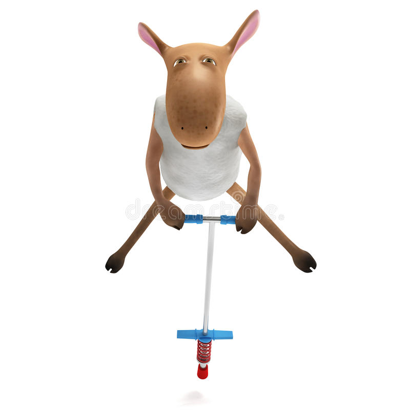 Sheepy die - stuitert royalty-vrije illustratie