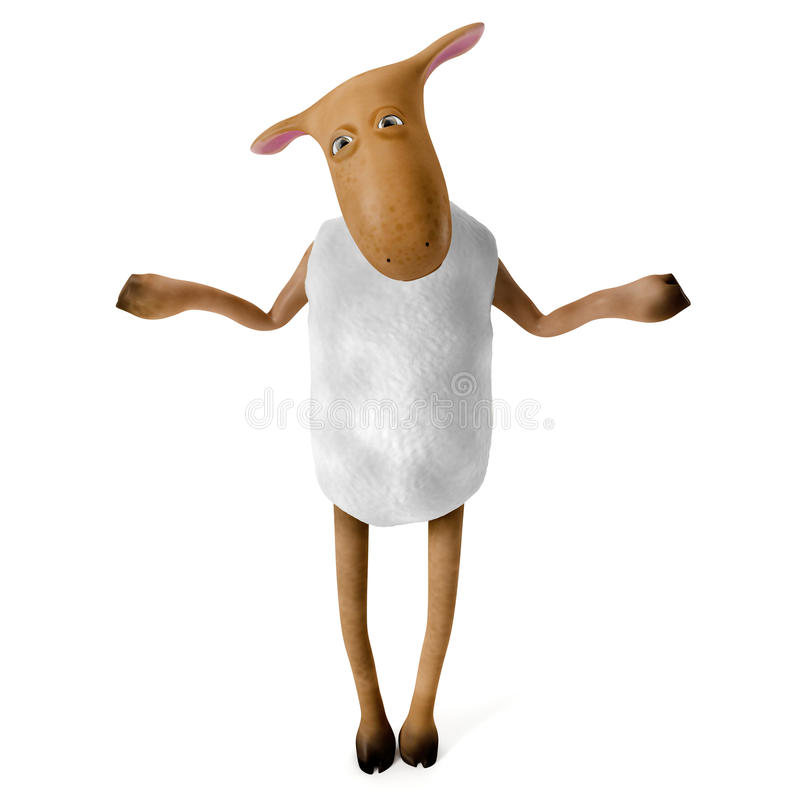 Download Sheepy In Doubt Royalty Free Stock Image - Image: 23770046
