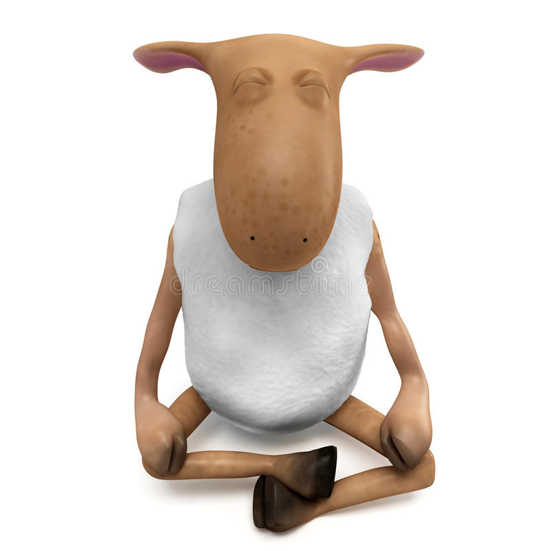 Download Sheepy relax stock illustration. Image of lifestyle, creative - 23769958