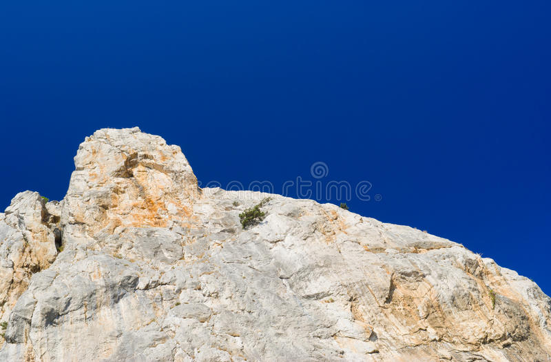 Sheer cliff on Cat Mountain in Crimea, Ukraine stock image