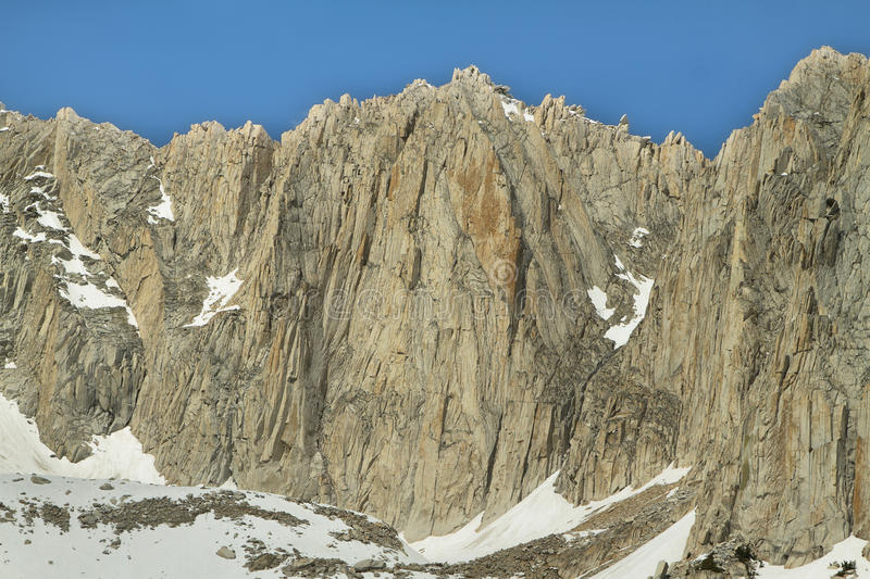 Sheer peaks from Mono pass trail stock photography