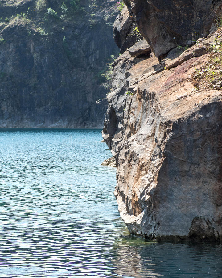 Sheer quarry face royalty free stock image