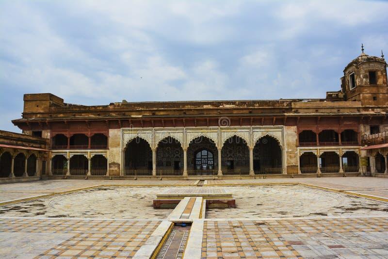 Sheesh forte de Mahal Lahore fotos de stock
