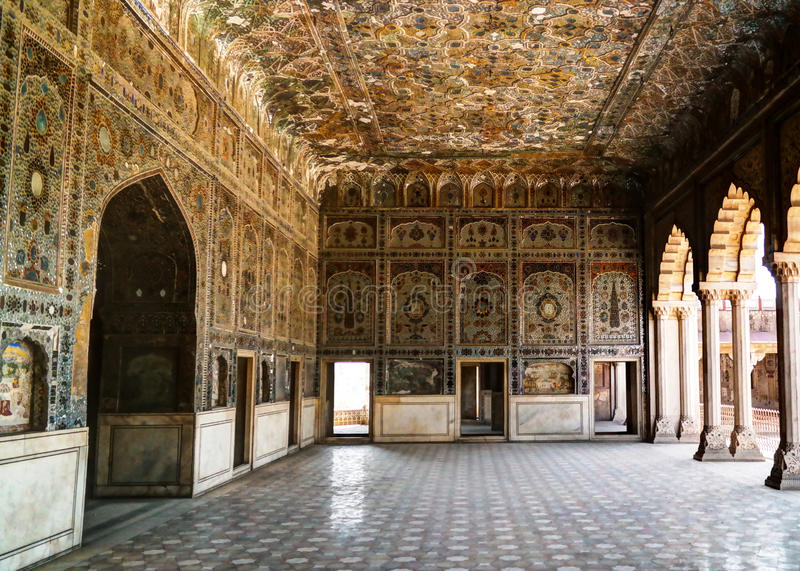 Sheesh Mahal Palace in Lahore fort, Pakistan. Sheesh Mahal Palace in Lahore fort in Pakistan royalty free stock photo