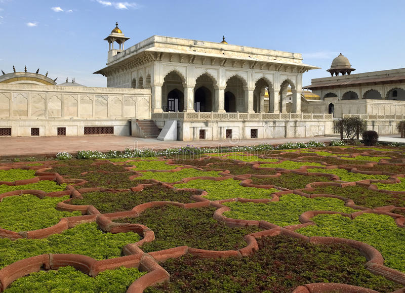 Sheesh Mahal - Rood Fort - Agra - India stock afbeeldingen