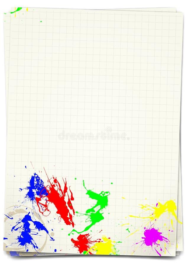 Download Sheet A4 stock illustration. Image of green, paint, splattered - 23050472