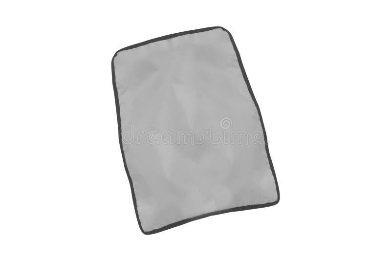 Sheet fabric isolated on white. Background royalty free stock photography