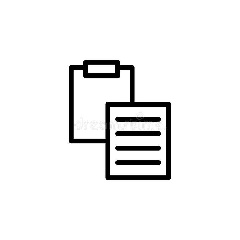 sheet and folder tablet icon. Element of minimalistic icons for mobile concept and web apps. Thin line icon for website design and vector illustration