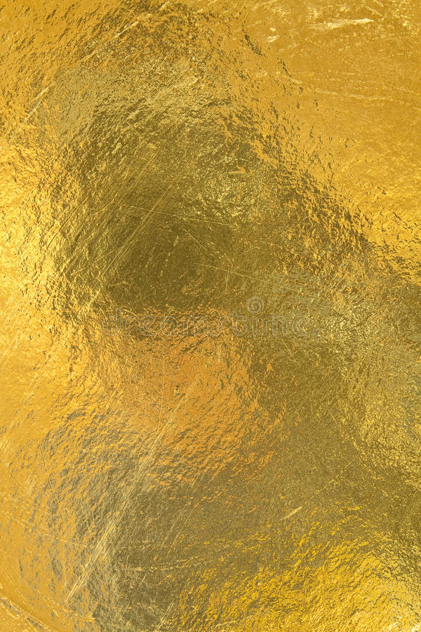 Sheet of gold foil royalty free stock photo
