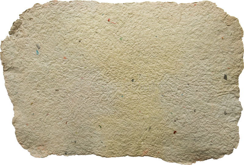Sheet Of Handmade Paper Royalty Free Stock Photography