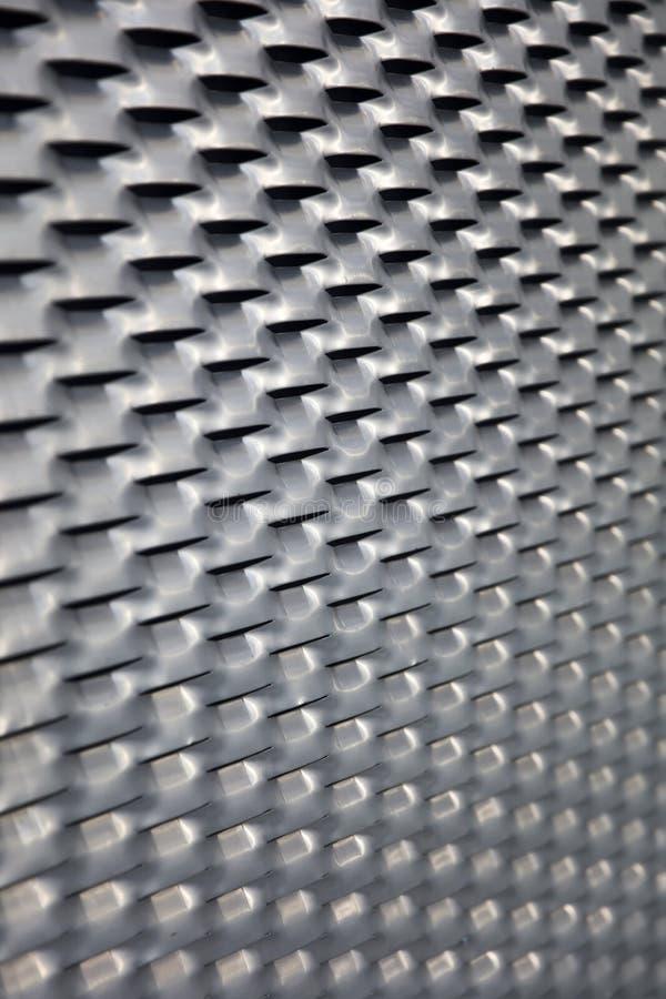 Sheet metal backdrop. Closeup detail of the sheet metal backdrop stock photography