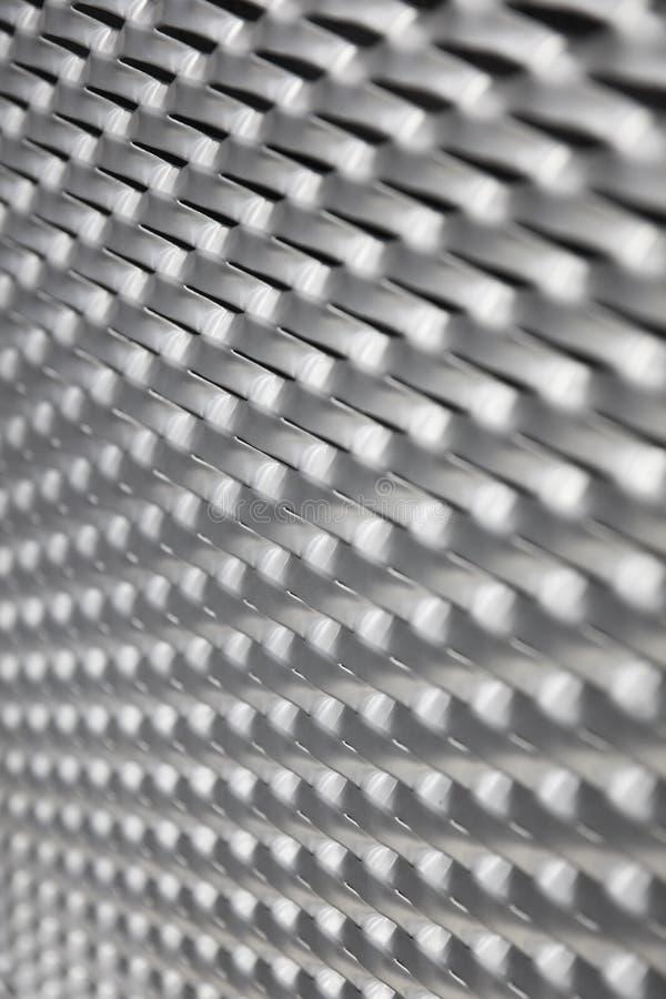 Sheet metal backdrop. Closeup detail of the sheet metal backdrop stock image