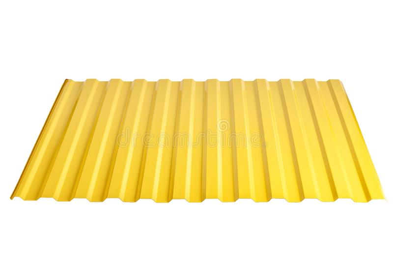Sheet metal profile type, modern material for the roof of houses stock images