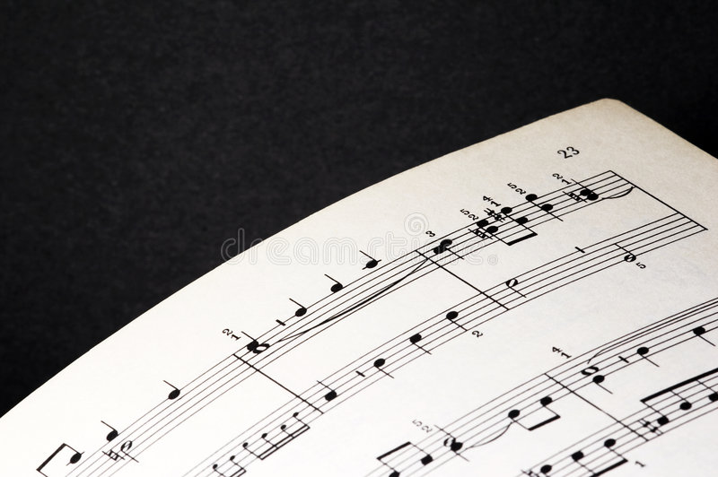 Sheet Of Music Stock Images