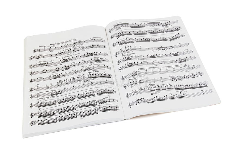 Sheet music book royalty free stock images