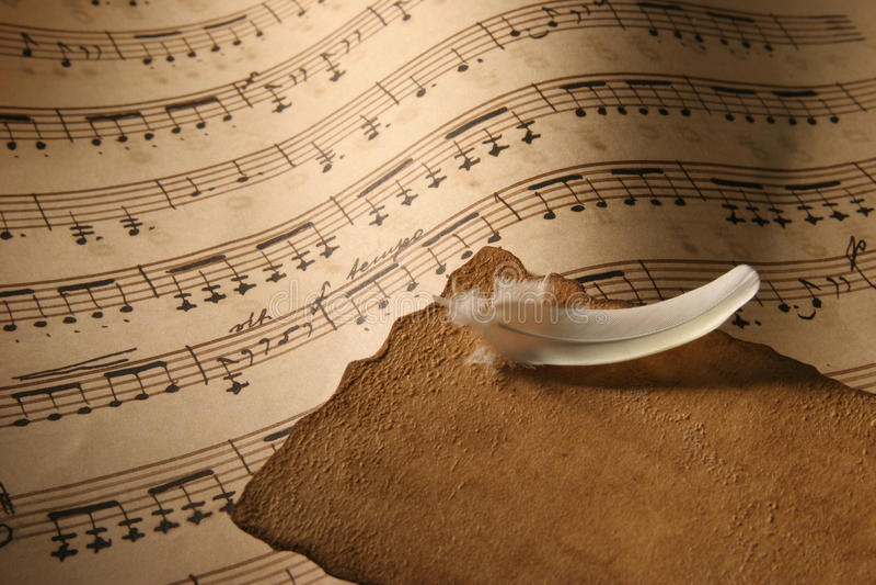 Sheet Music Close-Up. Royalty Free Stock Image