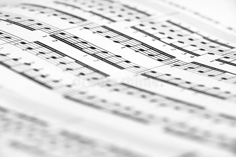 Sheet music. Close-up shot, very shallow depth of field. Could be easily used in any design, enjoy royalty free stock image