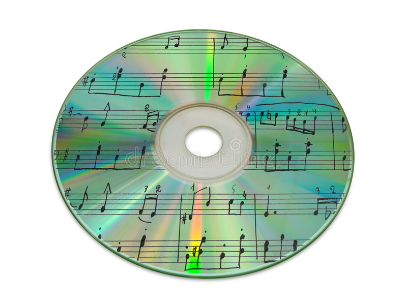 Download Sheet Music On Compact Disk Stock Photo - Image: 2434352