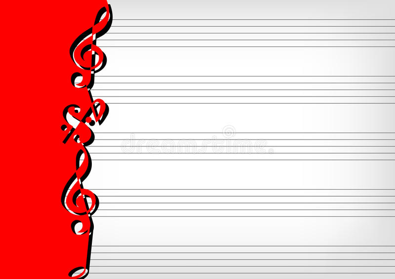 Download Sheet music notation stock vector. Image of vector, gray - 25303349