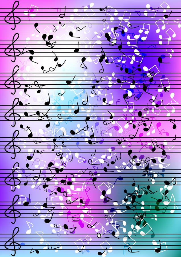 Sheet music notation stock images