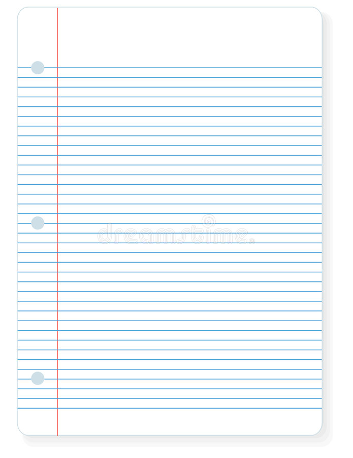 Sheet Of Notebook Paper Stock Vector Illustration Of Notebook
