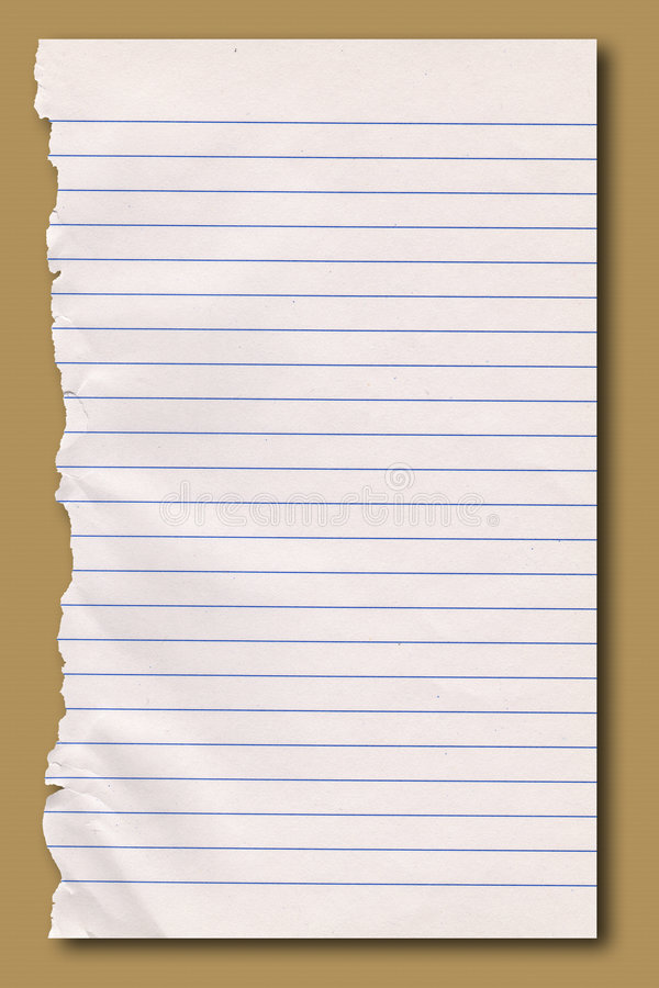 Free Sheet Of Ripped Notepaper. Royalty Free Stock Photo - 4855905