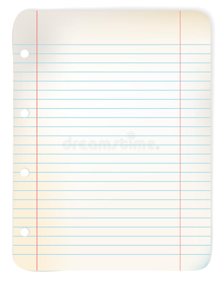 Download Sheet Of Old Grunge Lined Paper Stock Vector - Image: 13104521