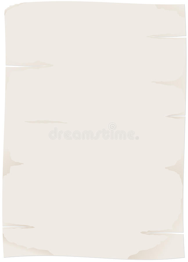 Download Sheet of old paper stock vector. Image of empty, battered - 23139610