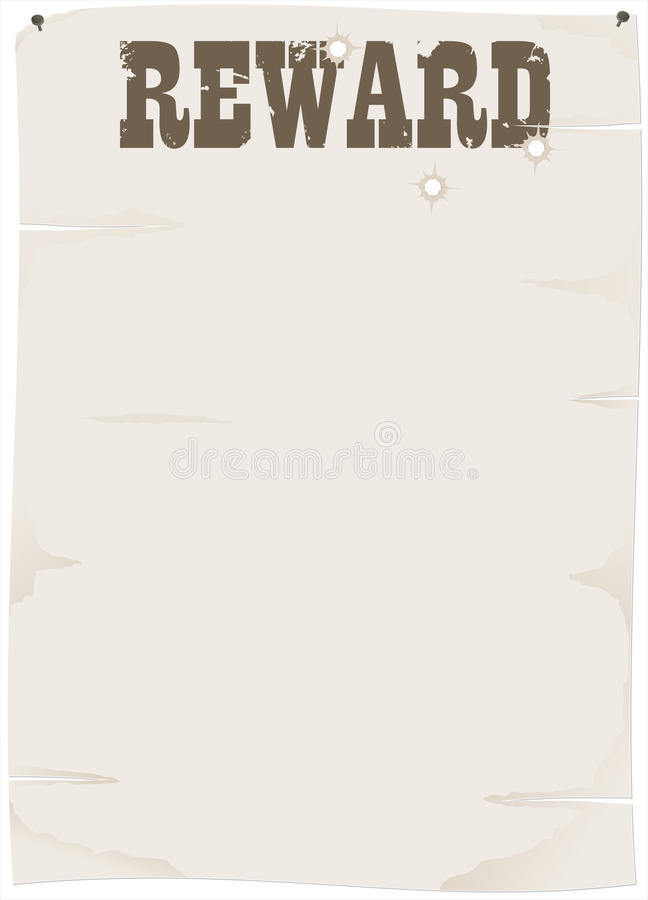 Download Sheet of old paper stock vector. Image of sheriff, retro - 23139620