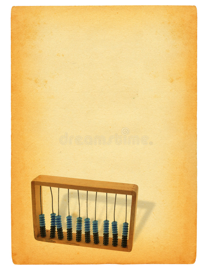 Download Sheet of paper with abacus stock image. Image of grunge - 2098003