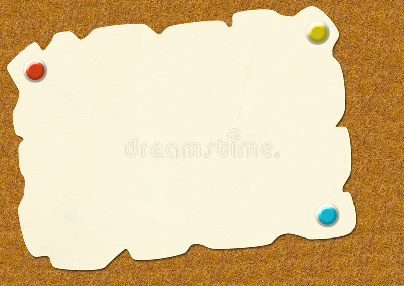 Download Sheet Of A Paper, Attached To A Board Stock Illustration - Image: 4471150
