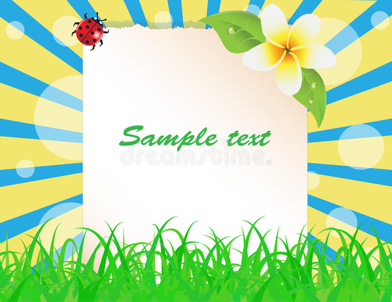 Sheet Of Paper Decorated With Plants Stock Images