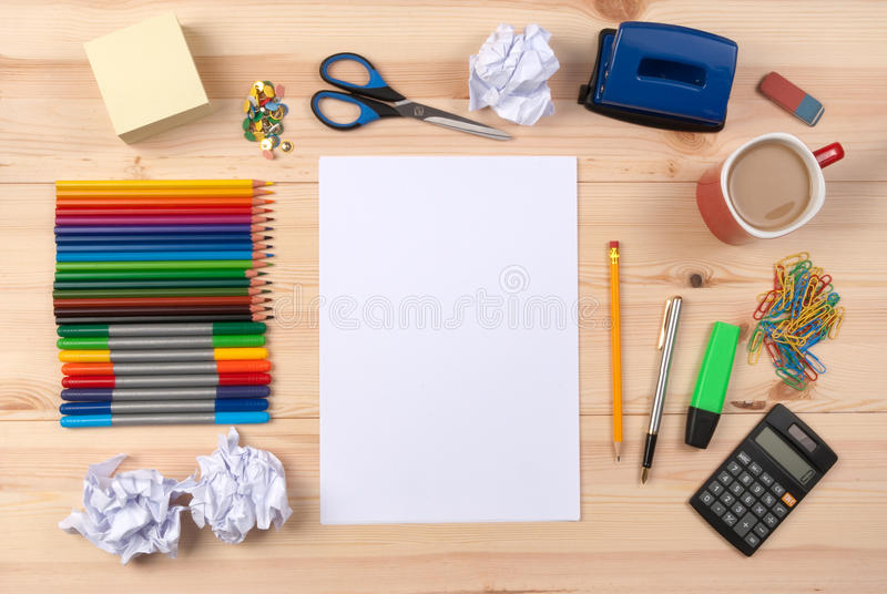 Download Sheet of paper on a desk stock image. Image of notice - 16666063