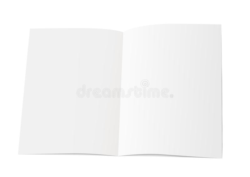 A sheet of paper folded in half. Mock Up Template. Vector illustration stock illustration