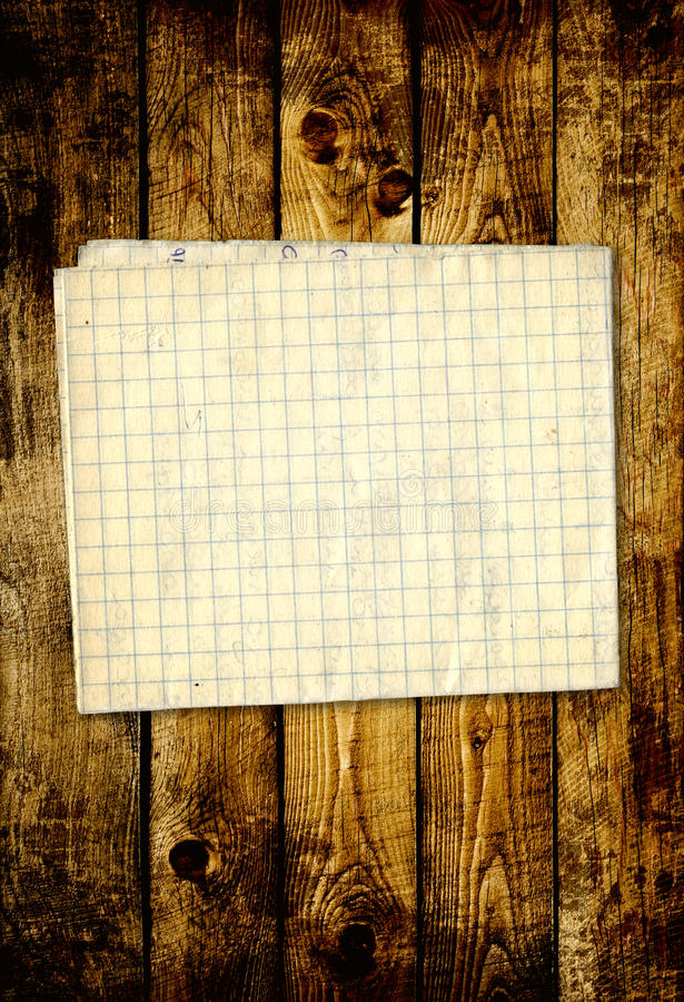Download Sheet Paper On Wooden Planks Stock Illustration - Illustration: 26629603