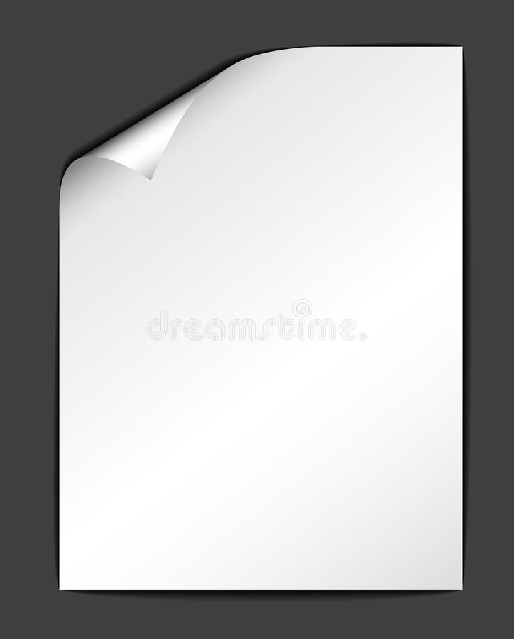 Download Sheet of white paper stock vector. Image of isolated - 13542599