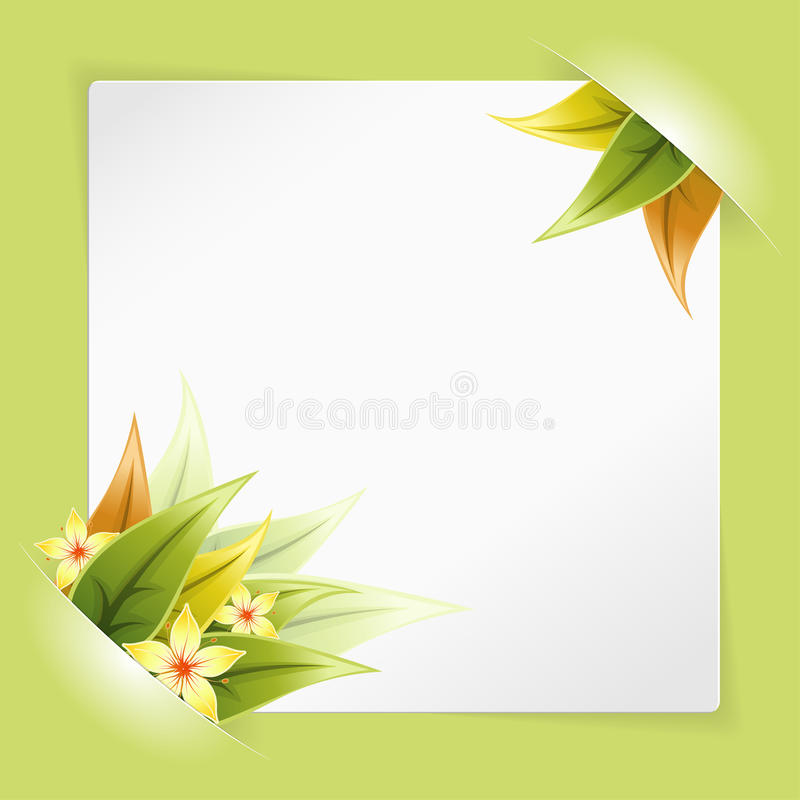 Download Sheet Of White Paper Mounted In Pockets Stock Vector - Image: 22346366