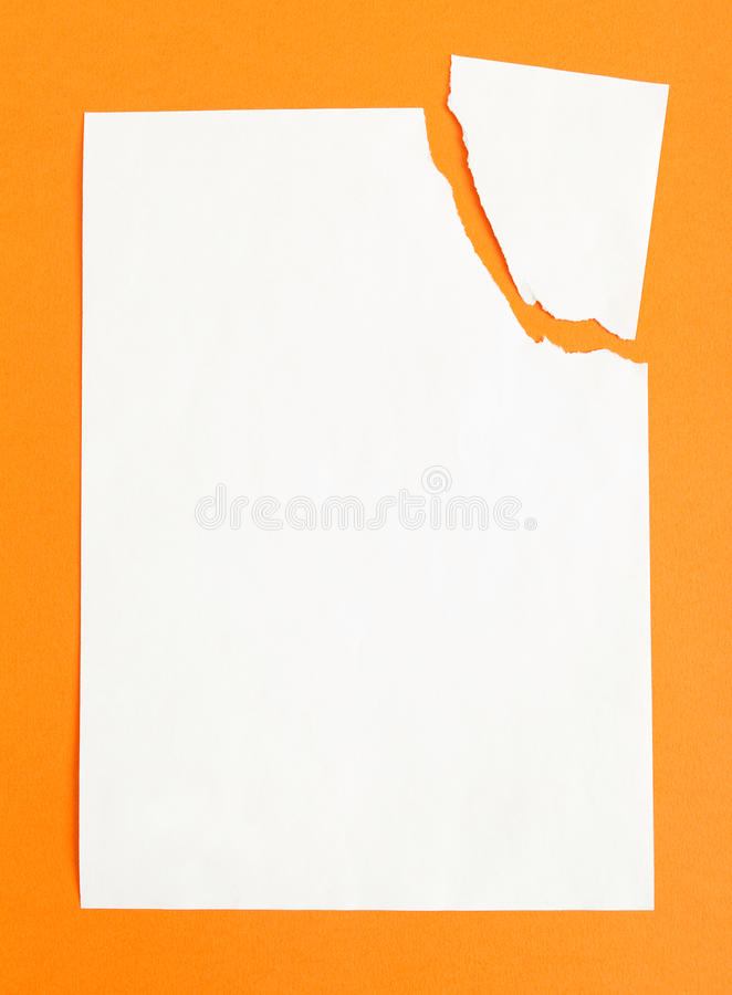 Download Sheet Of White Paper Ripped In Two Pieces Stock Photo - Image: 26759928