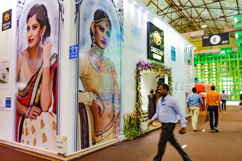 Sheetal Groups Stand an IIJS 2015 stockfotografie