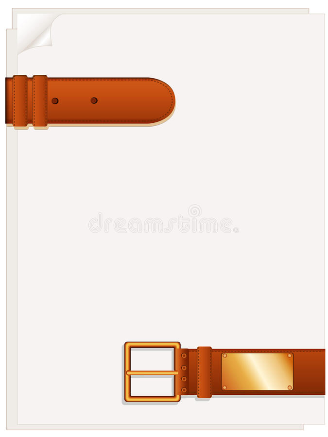 Download Sheets and belt stock vector. Image of note, brass, metal - 18184240