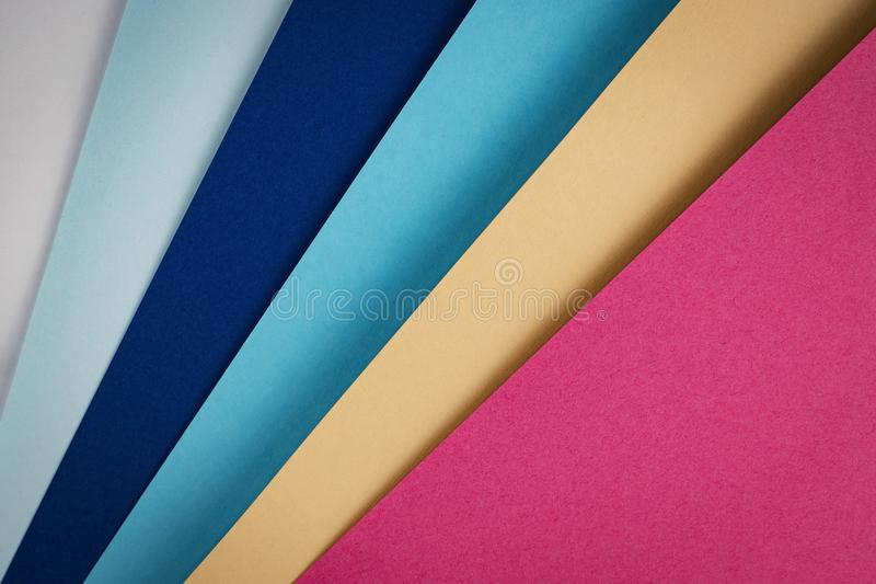 Sheets of colored paper royalty free stock photos